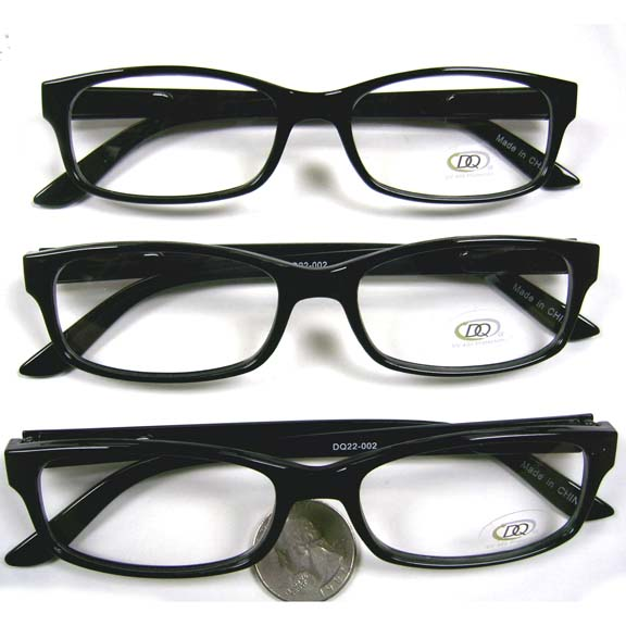 CLEAR LENS, BLACK FRAMES SMALL FRAMES GLASSES